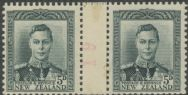 NZ Counter Coil Pair SG 682 1947 2d King George VI Join No. 19 (NCC/299)